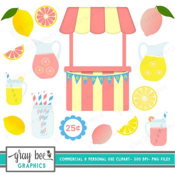 Lemonade Stand Clip Art Pack.