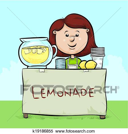 Lemonade Stand Clipart.