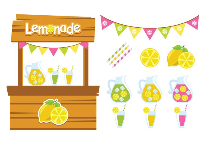 Cute Lemonade Stand Vectors.