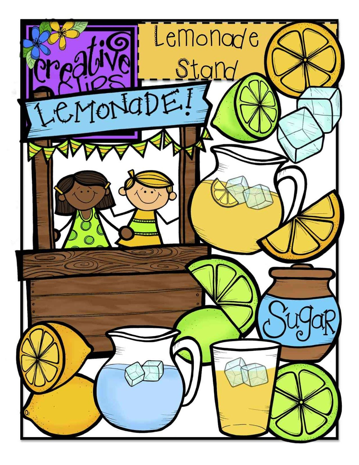 The Creative Chalkboard: FREE Lemonade Stand Clipart.