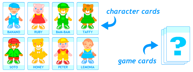 Card games for kids learning English.