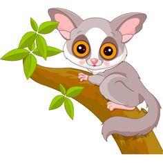 Cute lemur clipart.