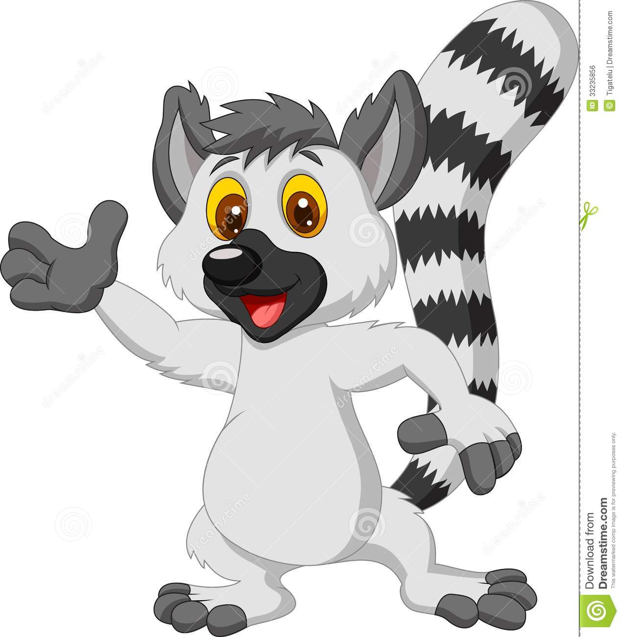 lemur clipart clipground Lemur Vector Clip Art Black and White Lemur