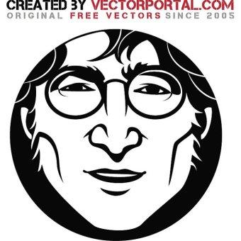 John Lennon Art Free Vector.
