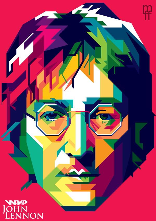 John Lennon in WPAP by wedhahai.