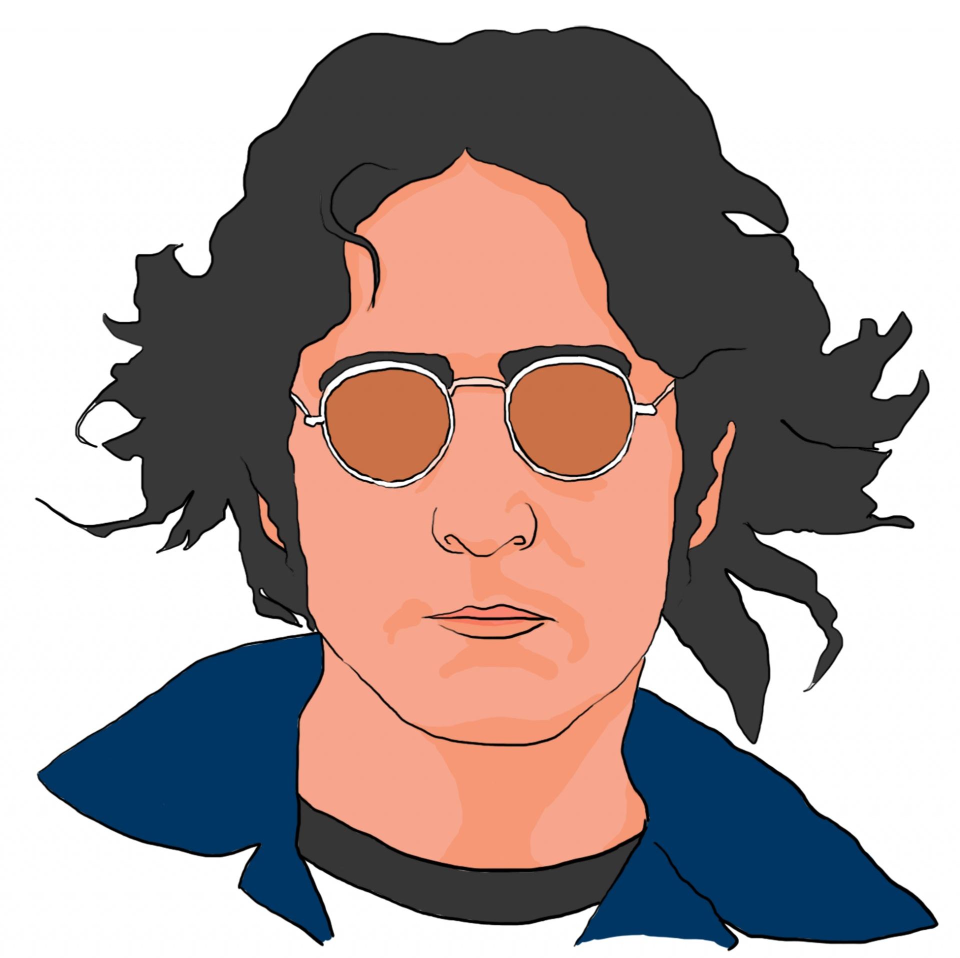 John Lennon Clipart Free Stock Photo.