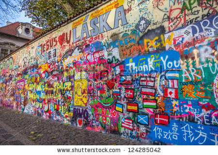 John Lennon Wall Prague Czech Republic Stock Photo 124285042.