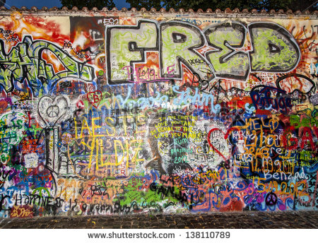 John Lennon Wall Prague Czech Republic Stock Photo 124285042.