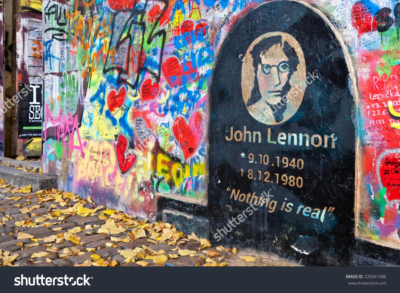 Prague November 8 Prague John Lennon Stock Photo 229341586.