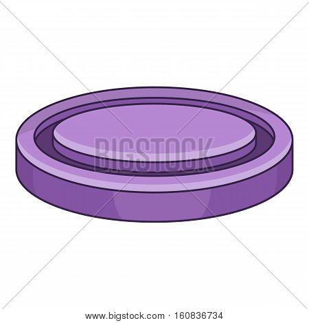 Lens cap icon. Cartoon illustration of lens cap vector icon for.