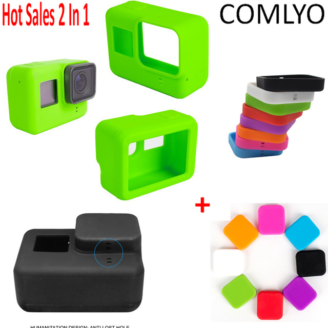 Top New! GoPro 5 Accessories Protective Case Soft Rubber Silicone.