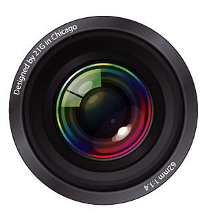 Cool camera lens lens, Clipart.