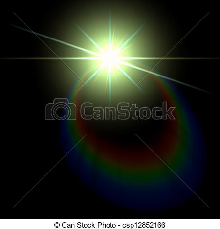 Clip Art Vector of Smooth light lines with lens effect vector.