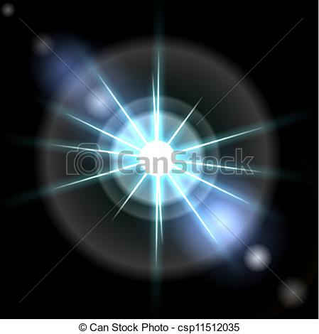 Vectors of Smooth light lines with lens effect vector background.
