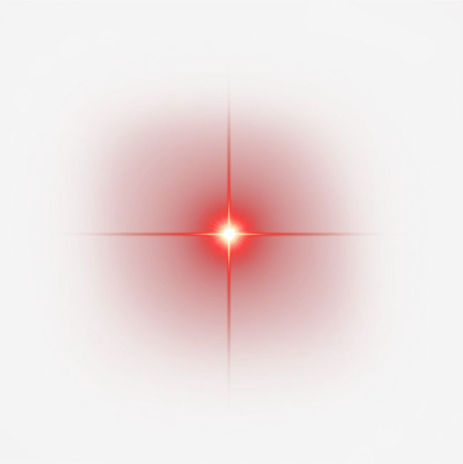 Red Shine Light Effect Element, Red, Ink, Light PNG.