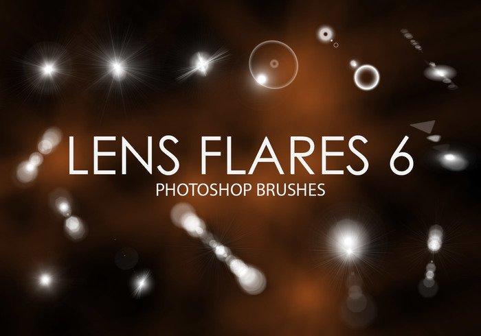 Free Lens Flare Photoshop Brushes 6.