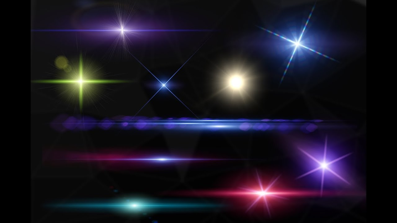10 Optical Lens Flares PNG and PSD Pack Free Download.