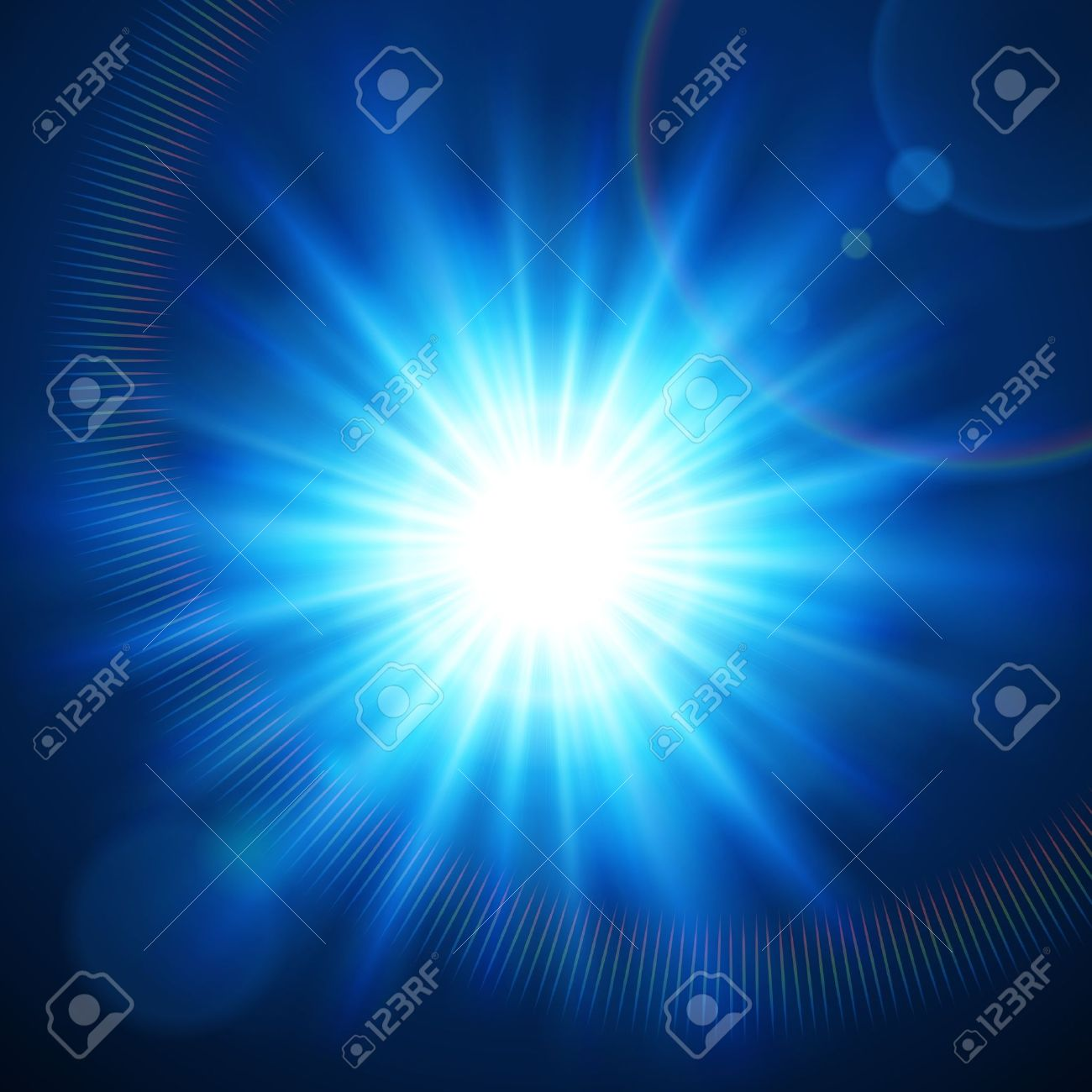 Abstraction Light With Lens Flare Vector Background Royalty Free.