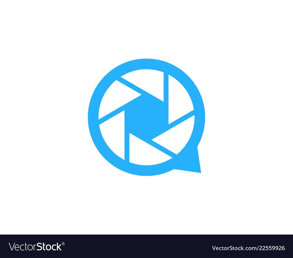 Lens chat logo icon design.