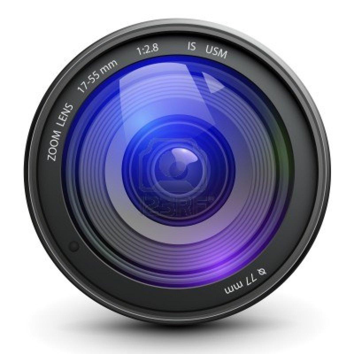 Video Camera Lens Vector.