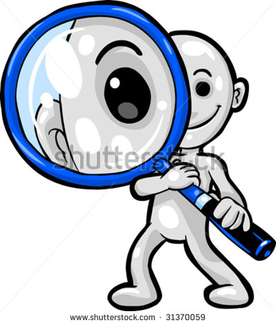 Clip Art Looking Through Lense Clipart.