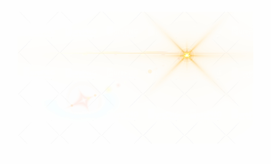 Side Yellow Lens Flare Png Image.