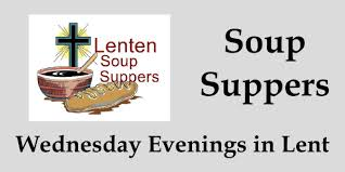 Lent soup suppers clipart.