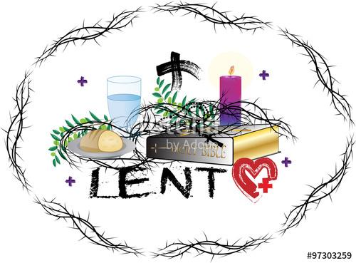 Lenten Clip Art Symbols.