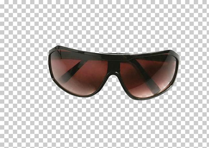 Gafas de sol de marca, lentes de sol marrones PNG Clipart.