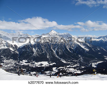 Stock Photography of Skiing in Lenzerheide k2077670.