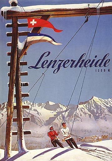 vintage ski poster.