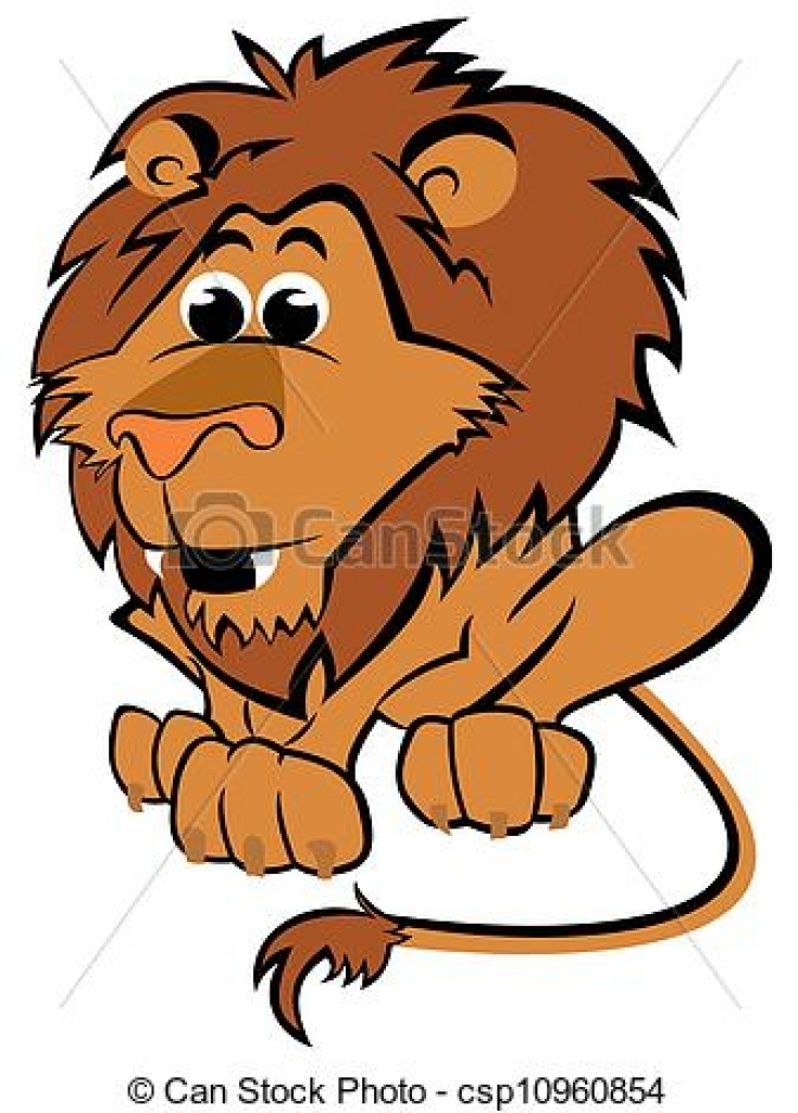 clipart vector of child leo cartoon illustration of leo zodiac.