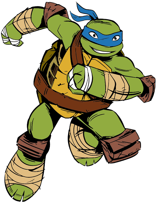 Teenage mutant ninja turtle leonardo clipart.