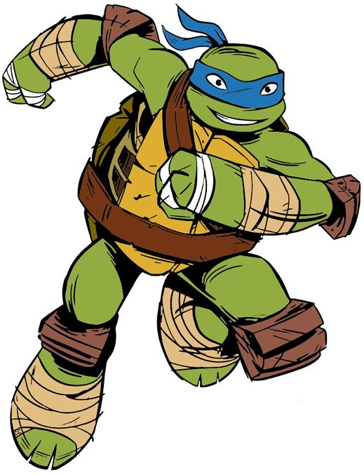 Teenage mutant ninja turtle leonardo clipart.