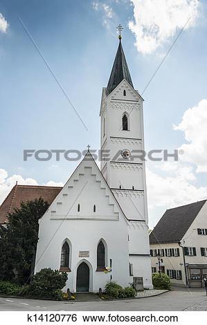 Stock Images of Bavarian St. Leonhard church k14120776.