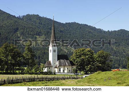 "Pictures of ""Church of St. Leonhard, Fischhausen at Schliersee."