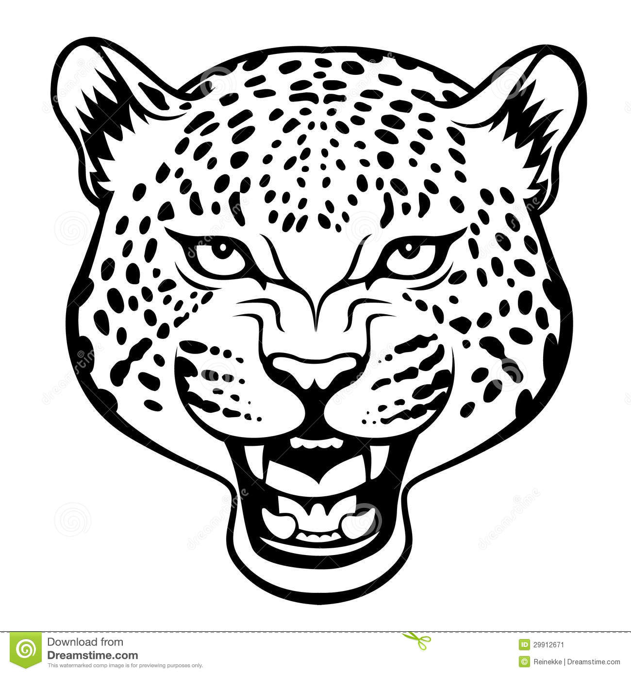 Snow leopard clipart head.