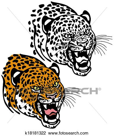 Leopard head Clipart.