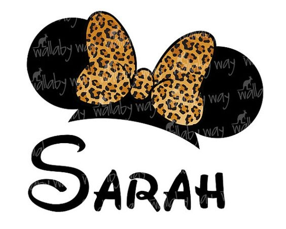 Leopard Minnie Mouse Clipart.