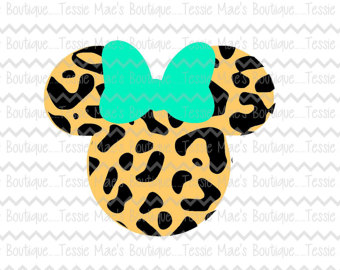 Minnie mouse leopard.