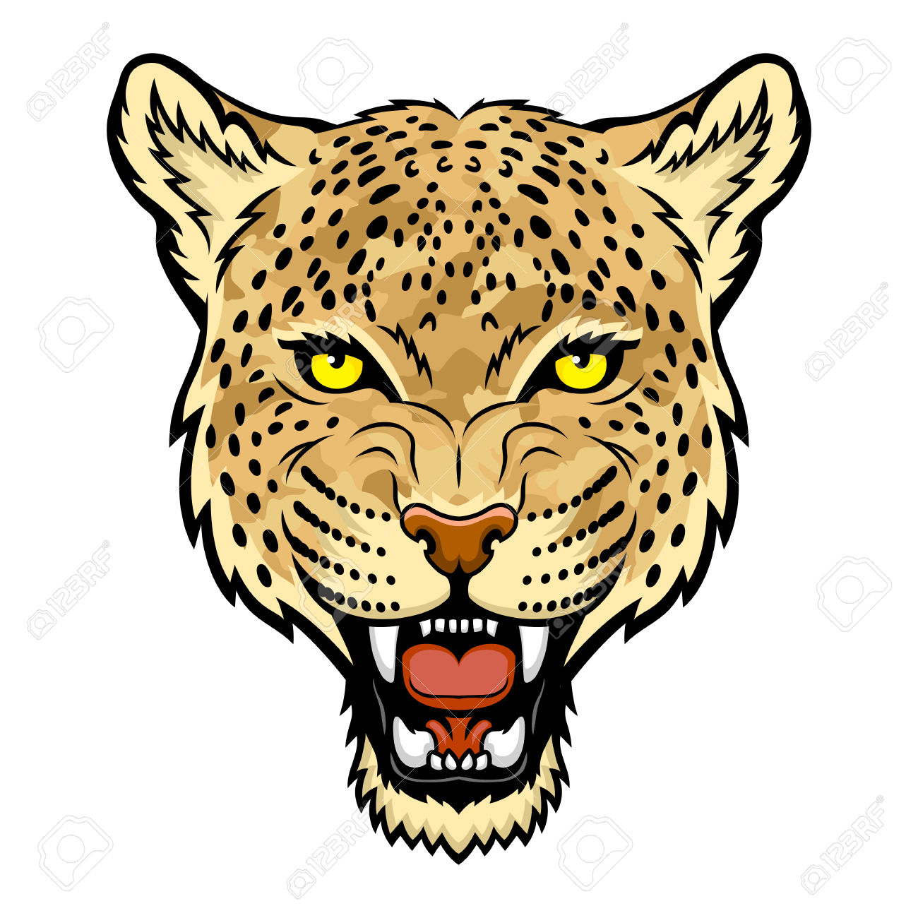 665 Leopard Portrait Cliparts, Stock Vector And Royalty Free.