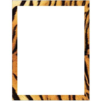 Amazon.com : Tiger Print Border Stationery Letter Paper.