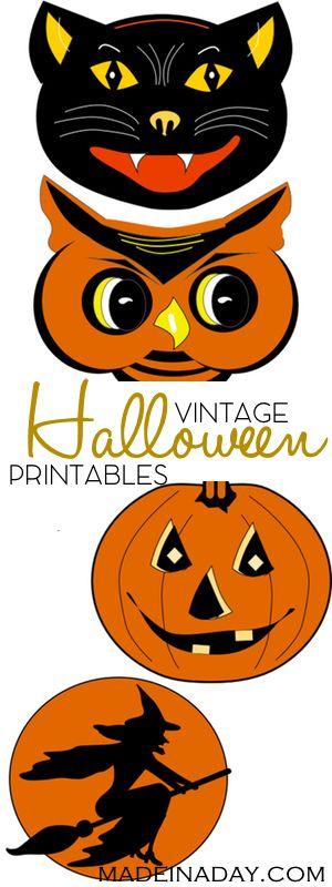 FREE Vintage Halloween Printable Garland.