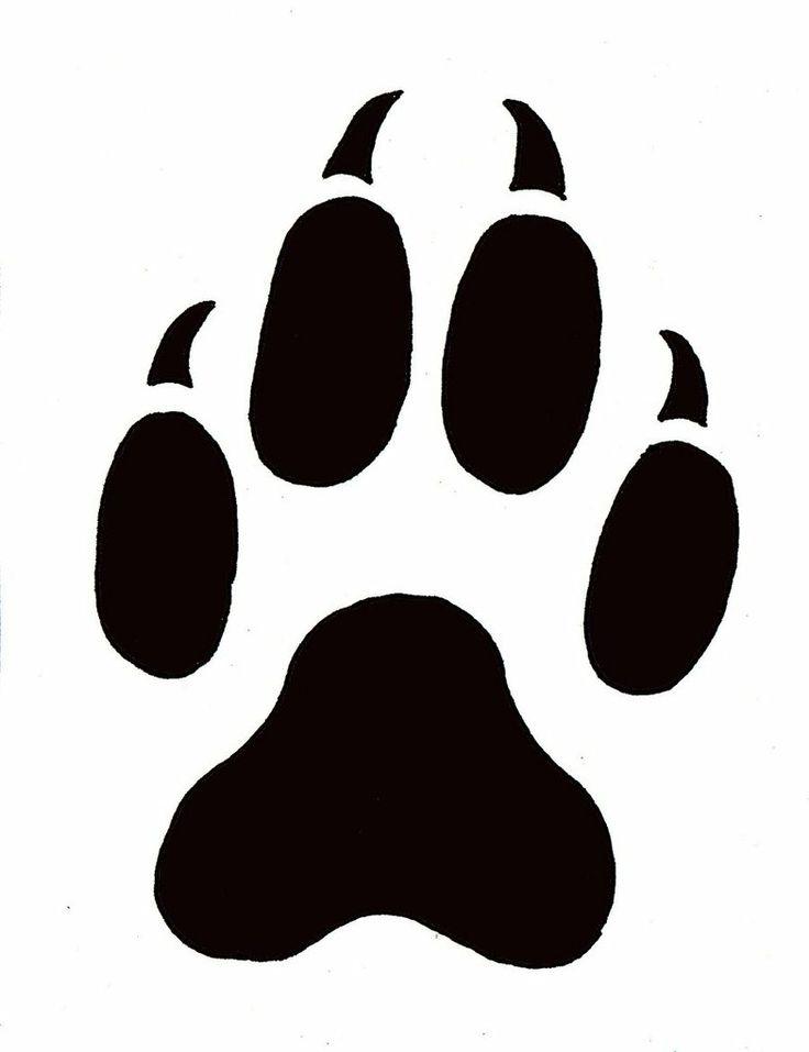 Leopard Paw Print Outline.