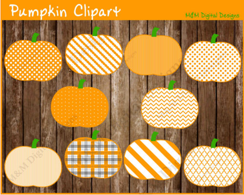 Patterned Pumpkins.