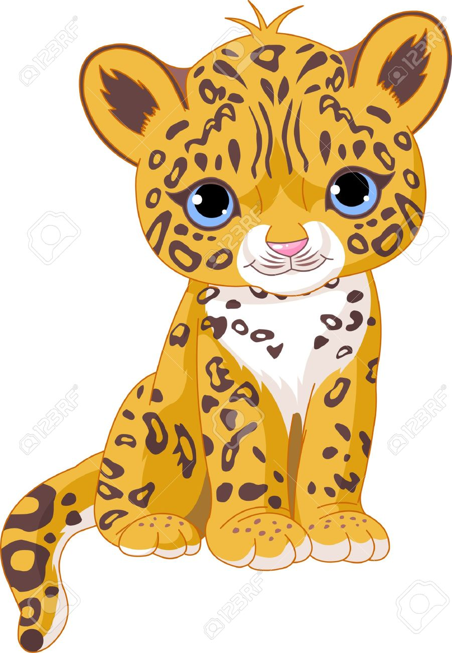 Animated leopard clipart.
