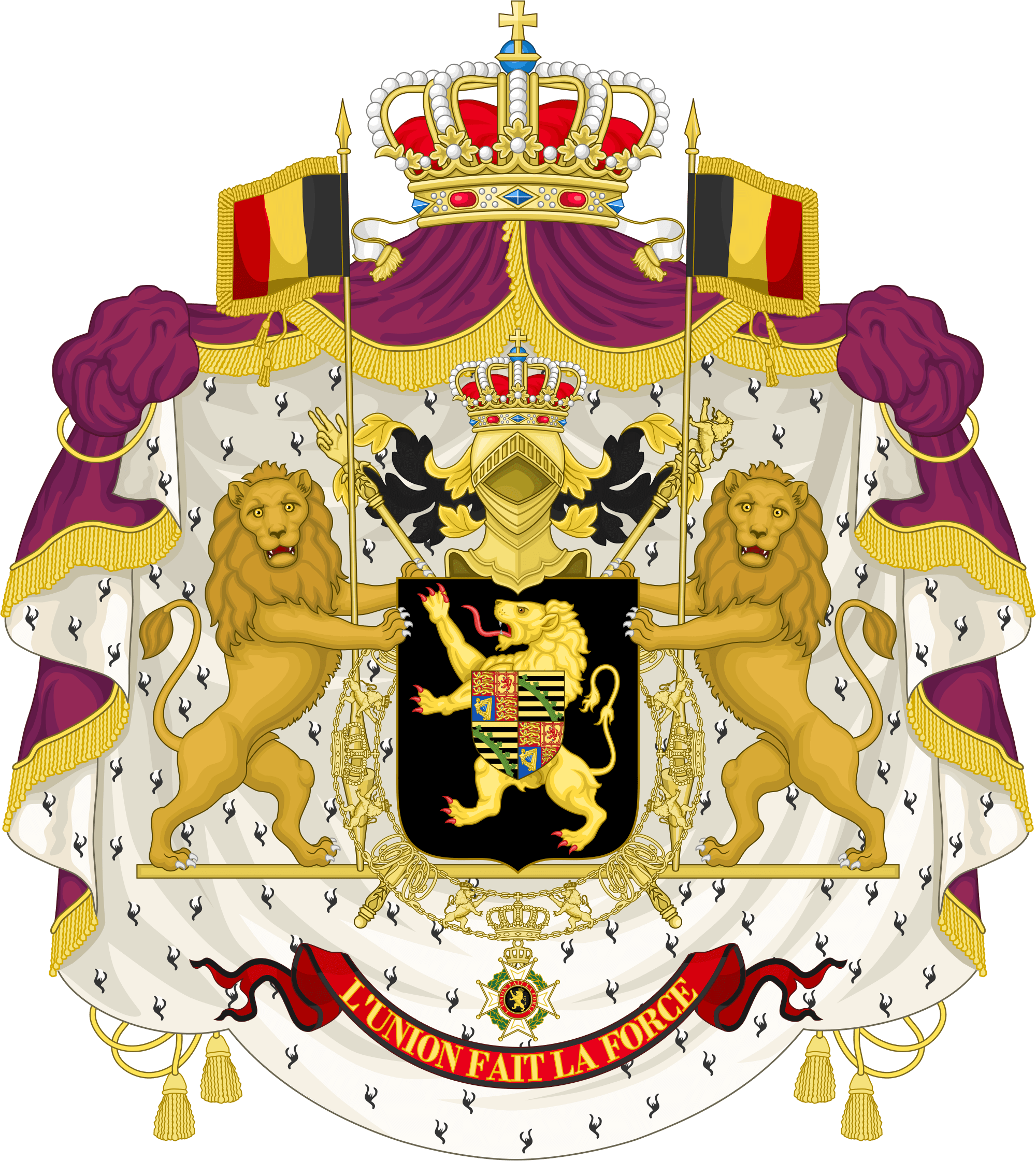 King Leopold Coat Of Arms transparent PNG.