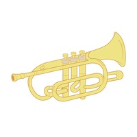 Icon Icons Simple Basic Basics Vuvuzela Horn Horns Plastic.