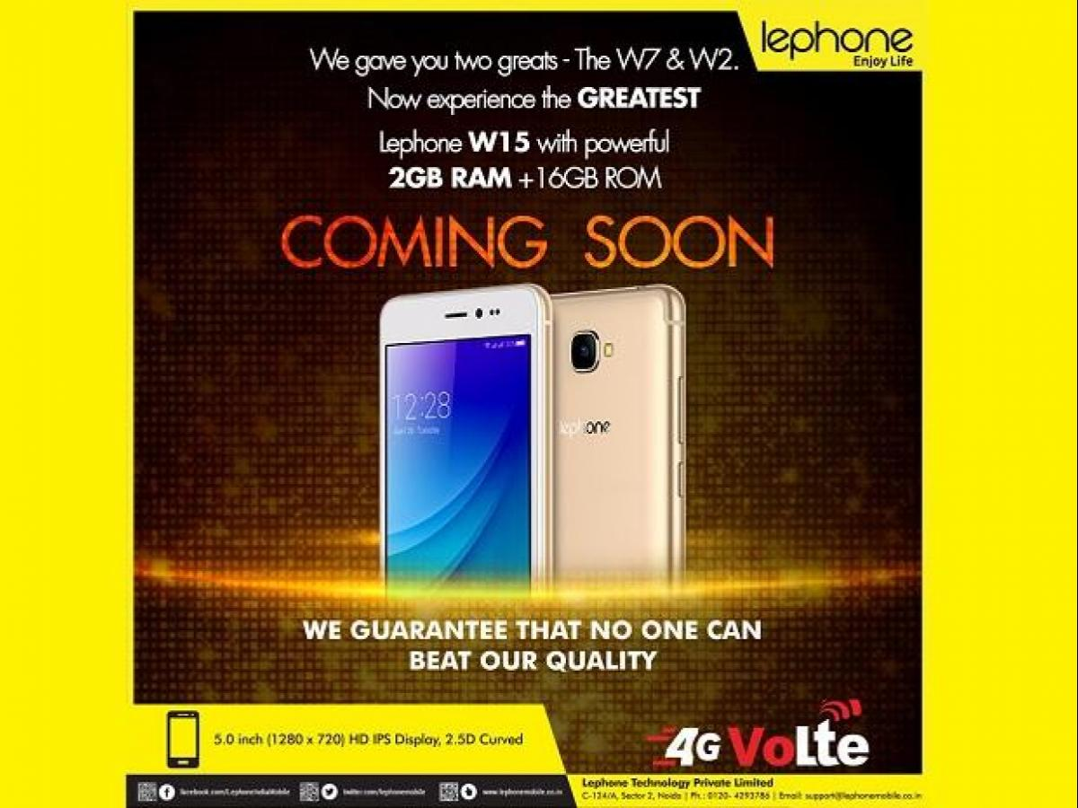 lephone launches new smartphone for Rs 5,499.