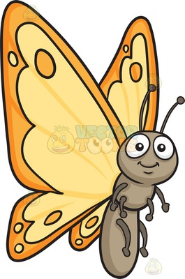 lepidopteran Cartoon Clipart.